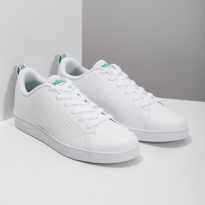 Weisse Sneakers mit grünen Details adidas, Weiss, 501-1300 - 26