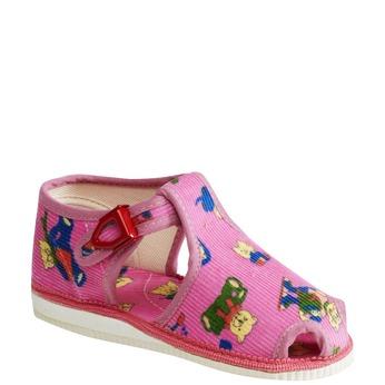 Hausschuhe für Kinder bata, Rosa, 179-5210 - 13