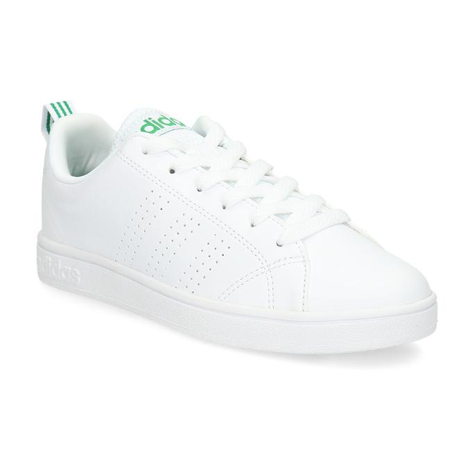Weisse Sneakers mit grünen Details adidas, Weiss, 501-1300 - 13