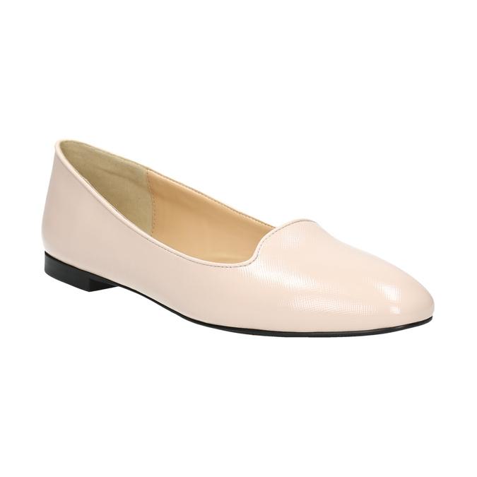 Ballerinas aus Leder bata, Rosa, 528-5630 - 13