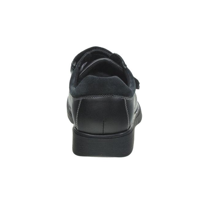 Leder-Sneakers, Schwarz, 834-6001 - 17