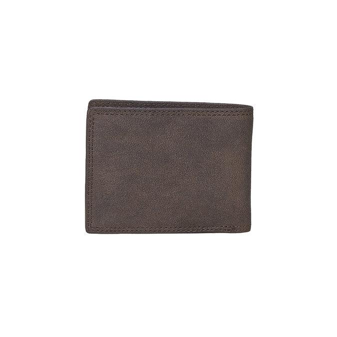 Herren-Geldbörse aus Leder bata, Braun, 944-4129 - 26
