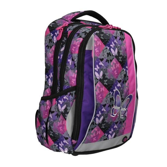 Schulrucksack mit Schmetterlingen bagmaster, Violett, Rosa, 969-5607 - 13
