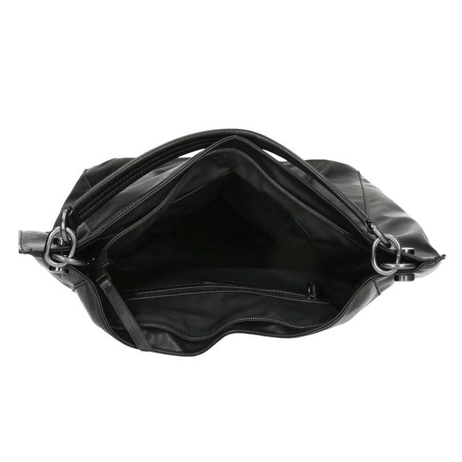 Schwarze Handtasche im Hobo-Stil bata, Schwarz, 961-6808 - 15
