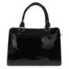 Schwarze Handtasche mit goldenen Details bata, Schwarz, 961-6610 - 19