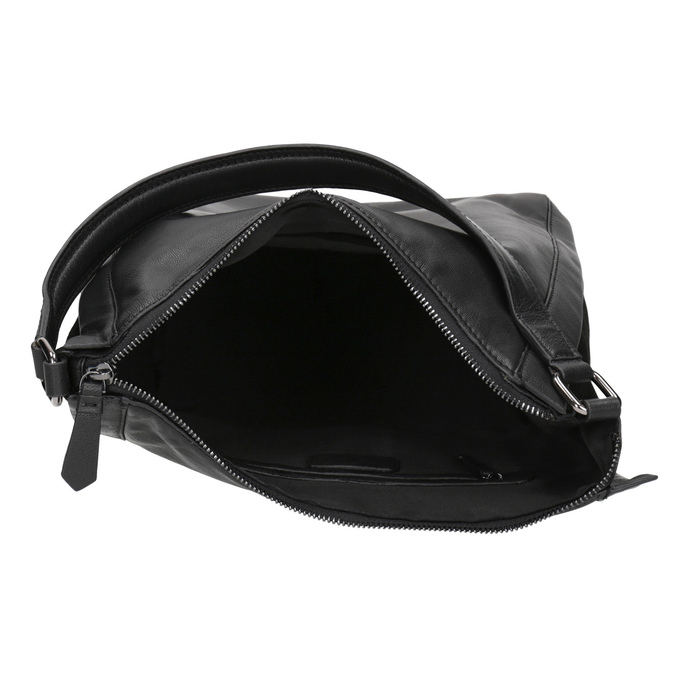 Schwarze Hobo-Bag aus Leder bata, Schwarz, 964-6254 - 15
