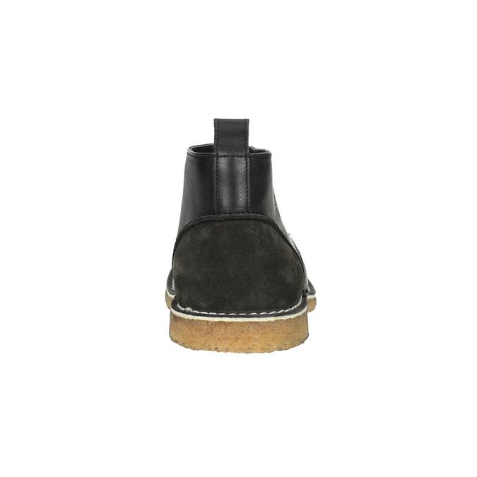 Chukka Boots aus Leder bata, Schwarz, 824-6665 - 17