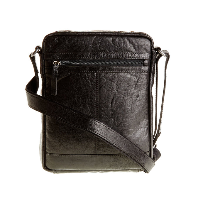 Crossbody-Tasche aus Leder, Schwarz, 964-6180 - 26