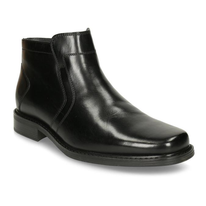 Knöchelschuhe aus Leder mit wärmender Fütterung bata, Schwarz, 894-6641 - 13