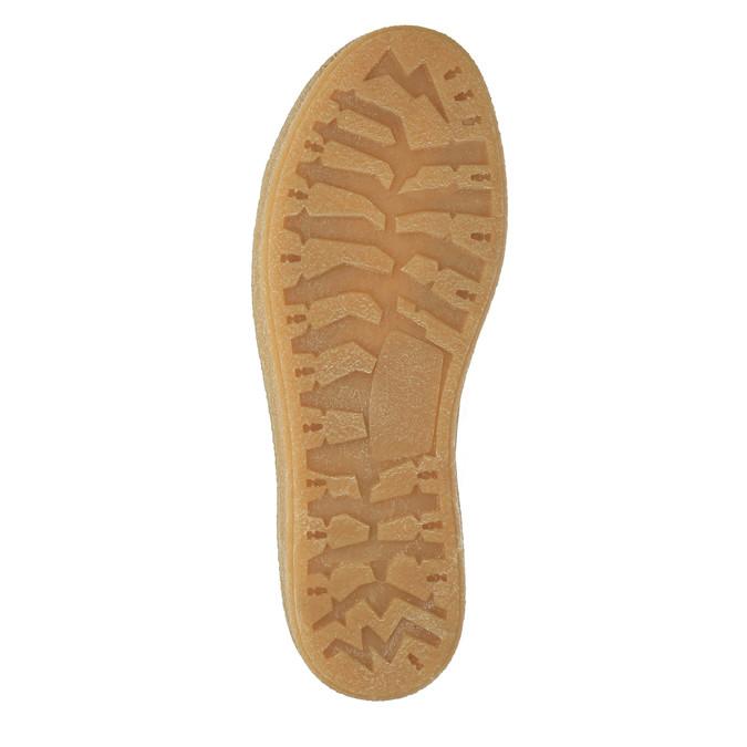Knöchelhohe Leder-Sneakers mit Kunstpelz weinbrenner, Braun, 596-8627 - 26