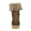 Winterlederschuhe mit Pelz weinbrenner, Braun, 596-4633 - 17