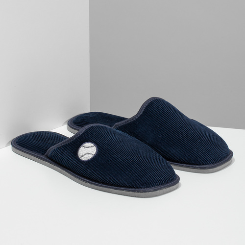 Herren-Hausschuhe bata, Blau, 879-9609 - 26