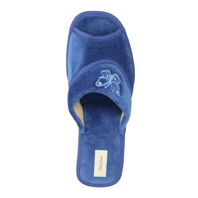 Damen-Hausschuhe bata, Blau, 679-9606 - 19