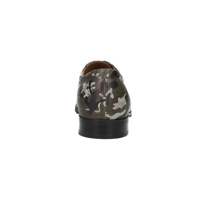 Lederhalbschuhe mit Camouflage-Muster climatec, Grűn, 826-7600 - 17