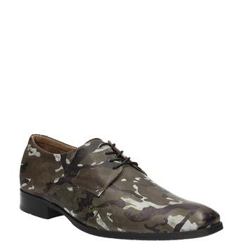 Lederhalbschuhe mit Camouflage-Muster climatec, Grűn, 826-7600 - 13