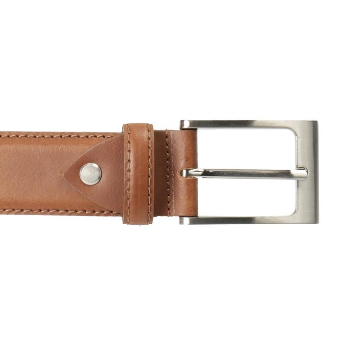 Brauner Herrengürtel aus Leder bata, Braun, 954-4153 - 26