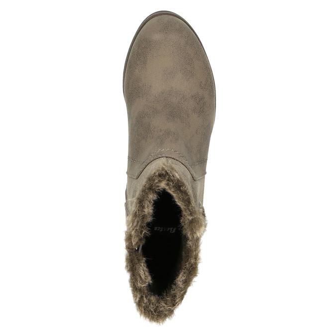 Damen-Stiefeletten aus Leder bata, Grau, 699-2632 - 19