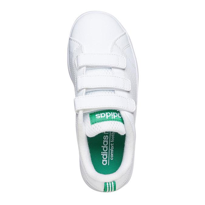 Weiße Kinder-Sneakers mit Klettverschluss adidas, Weiss, 301-1168 - 19