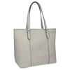 Damenhandtasche mit perforiertem Detail bata, Grau, 961-2711 - 13