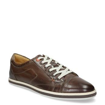 Herren-Leder-Sneakers bata, Braun, 846-4617 - 13