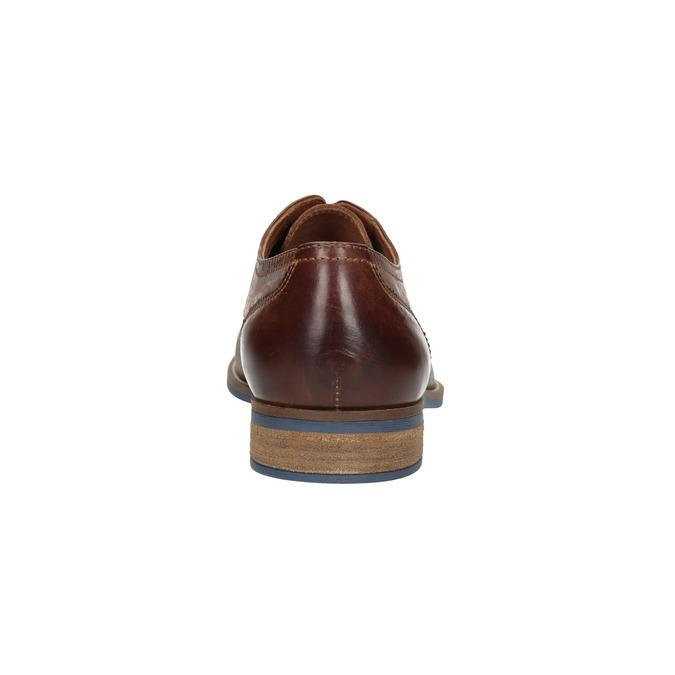 Braune Herrenhalbschuhe aus Leder bata, Braun, 826-4791 - 17