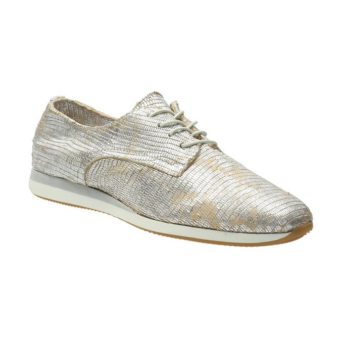 Goldene Sneakers aus Leder bata, Silber , 526-8633 - 13
