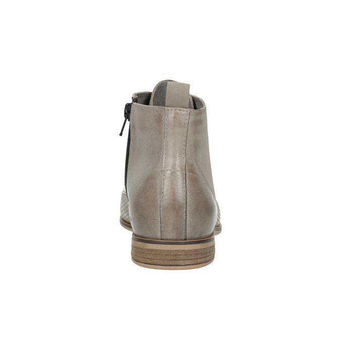 Leder-Stiefeletten bata, Braun, 596-2645 - 17