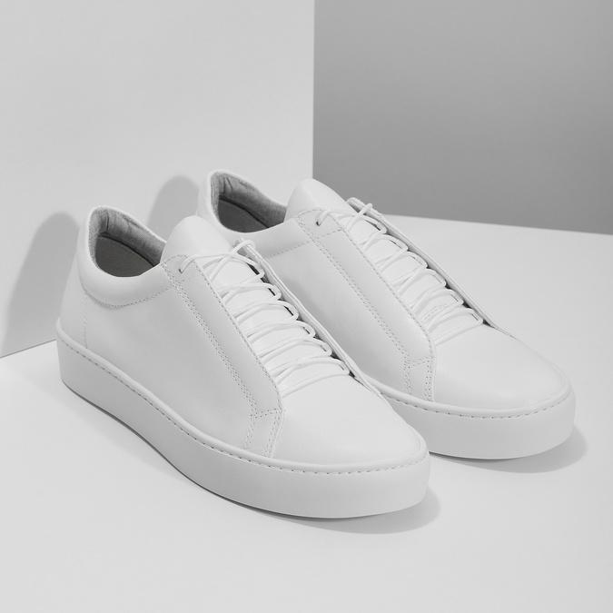 Weisse Sneakers aus Leder vagabond, Weiss, 624-1019 - 26