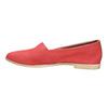 Rote Slip-Ons aus Leder bata, Rot, 516-5602 - 26