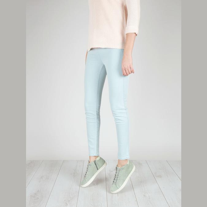 Knöchelhohe Damen-Sneakers aus Leder bata, Grűn, 523-7602 - 18