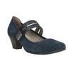 Blaue Lederpumps der Weite H bata, Blau, 623-9600 - 13