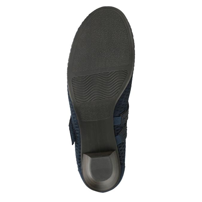 Blaue Lederpumps der Weite H bata, Blau, 623-9600 - 17