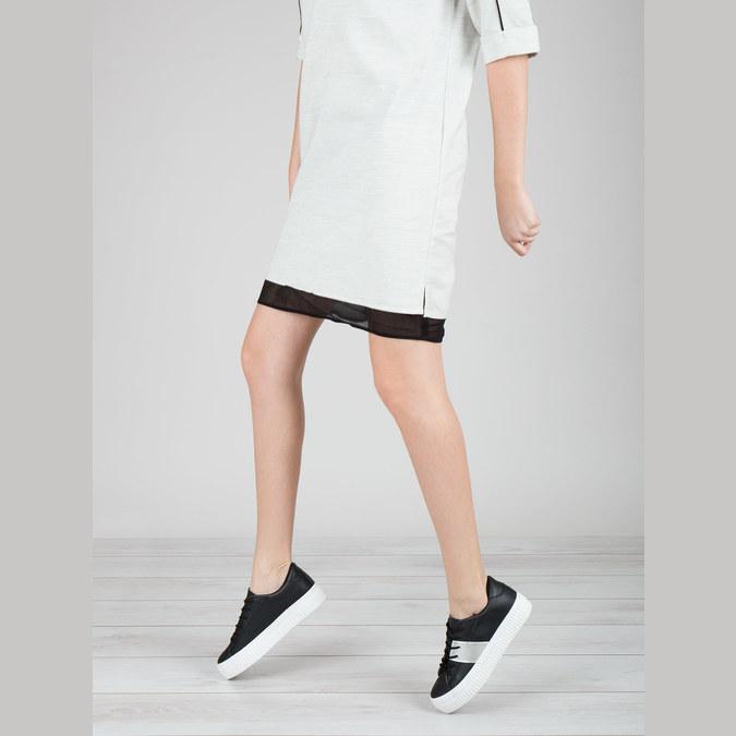 Schwarze Sneakers mit silbernem Streifen north-star, Schwarz, 521-6605 - 18