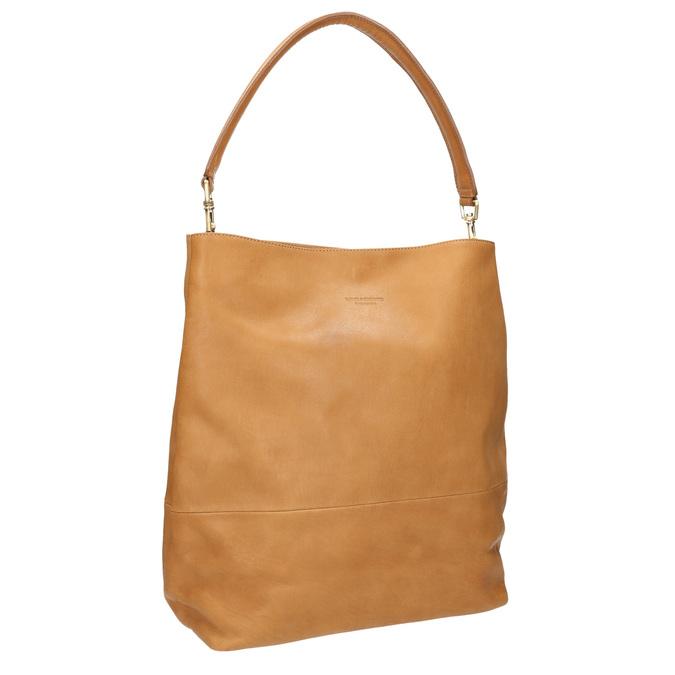 Lederhandtasche mit abnehmbarem Henkel vagabond, Beige, 964-8051 - 13