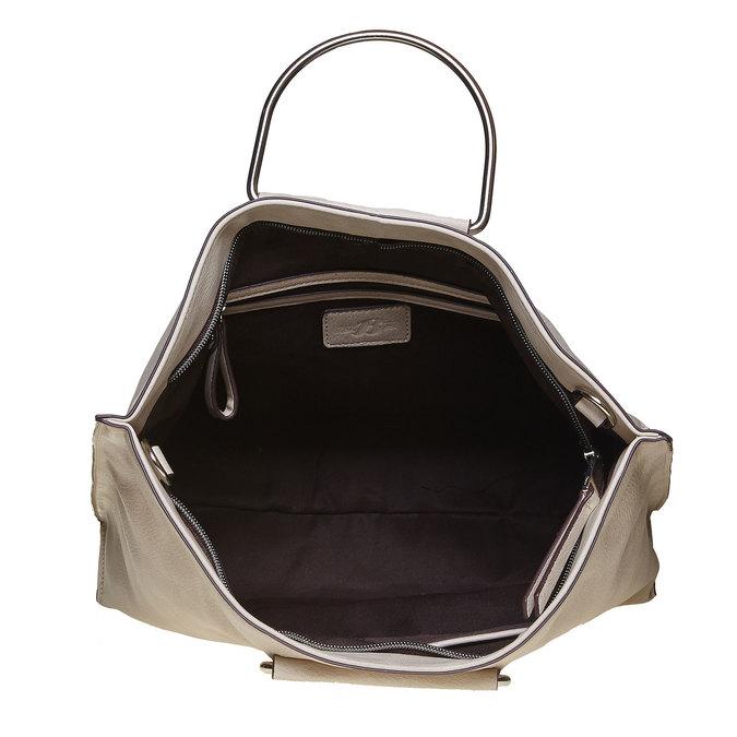 Cremefarbene Damenhandtasche bata, Grau, 961-8327 - 15