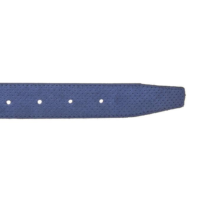 Ledergürtel mit Perforation, Blau, 953-9325 - 16