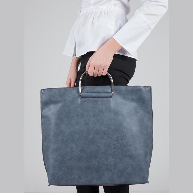 Blaue Damenhandtasche bata, Blau, 961-9327 - 17