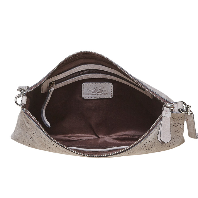 Crossbody-Handtasche aus Leder bata, Grau, 963-2135 - 15