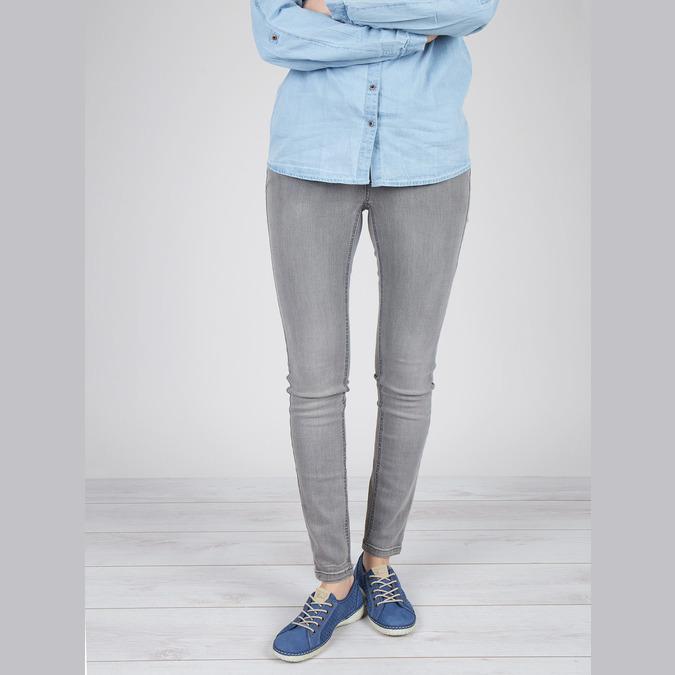 Sneakers aus Leder weinbrenner, Blau, 546-9238 - 18