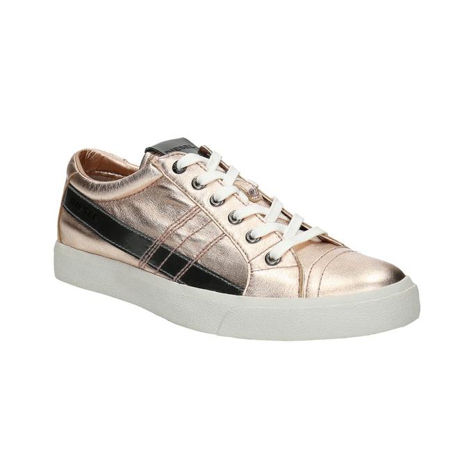 Damen-Sneakers aus Leder mit Steppnaht diesel, Rosa, 584-8438 - 13