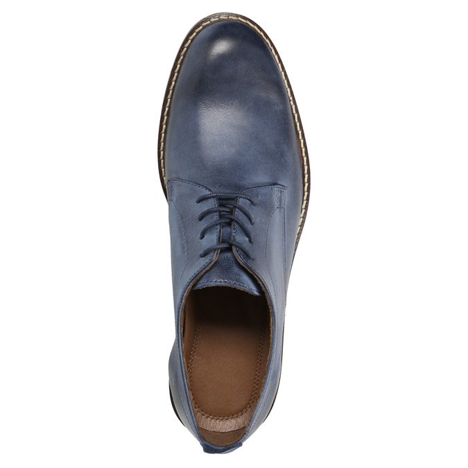 Blaue Lederhalbschuhe bata, Blau, 826-9601 - 19
