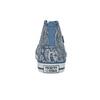 Knöchelhohe Damen-Sneakers mit Muster north-star, Blau, 589-9442 - 17