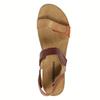 Damensandalen aus Leder weinbrenner, Braun, 566-4630 - 19