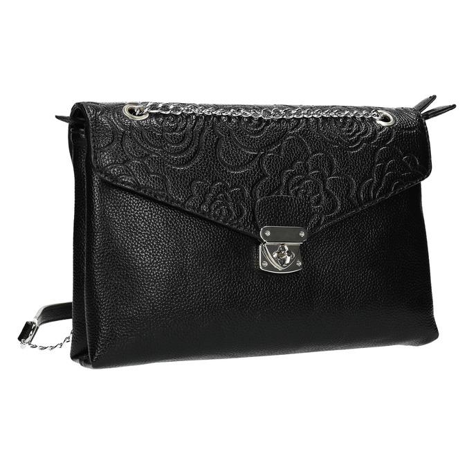 Kleinere schwarze Handtasche mit Klappe bata, Schwarz, 961-6731 - 13