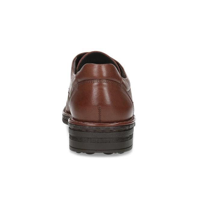 Braune Halbschuhe aus Leder fluchos, Braun, 824-3451 - 15