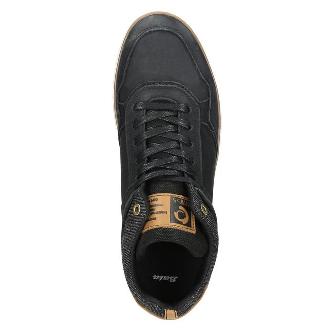 Knöchelhohe Herren-Sneakers aus Leder bata, Schwarz, 846-6641 - 26