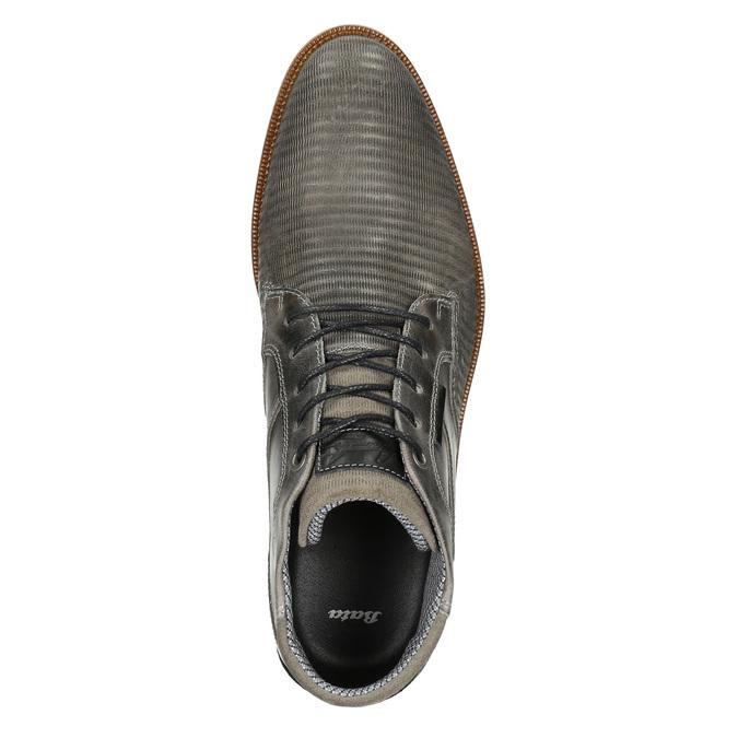 Graue Knöchelschuhe aus Leder bata, Grau, 826-2912 - 26
