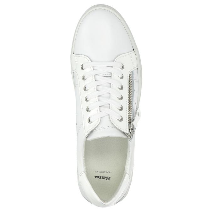 Damen-Sneakers aus Leder mit Reissverschluss bata, Weiss, 526-2630 - 26