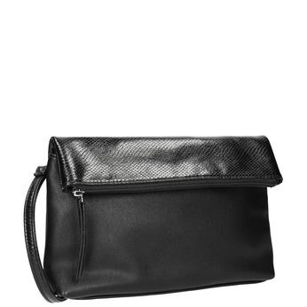 Crossbody-Handtasche mit Klappe bata, Schwarz, 961-6501 - 13