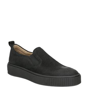 Damen-Slip-Ons aus Leder bata, Schwarz, 516-6613 - 13